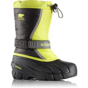 Sorel Youth Flurry Boots Dark Grey/Warning Yellow